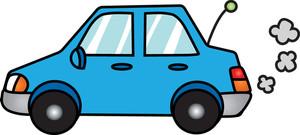 clip_art_illustration_of_a_running_blue_compact_car_0071-1006-2115-2312_SMU
